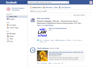 Facebook for Law Students